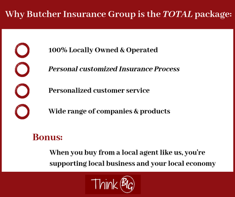 Infographic - Why Butcher Insurance Group is the TOTAL package